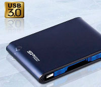 "Портативный жесткий диск 2.5"" Portable Hard Drive Armor A80 1TB Silicon Power USB 3.0. Фото: http://www.silicon-power.com"