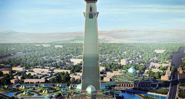 Строители в Грозном начали рыть котлован для 400-метровой башни