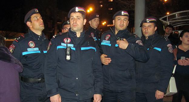 Полиция распространила сообщение о сегодняшних акциях протеста в ереване