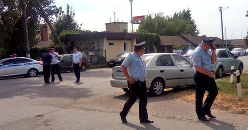 Полиция на месте блокирования колонны кубанских фермеров и дальнобойщиков