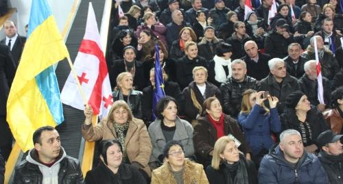 ВТбилиси проходит съезд партии экс-президента Грузии Саакашвили