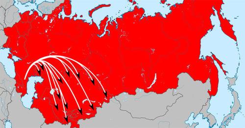 Депортация чеченцев и ингушей. Карта. Фото: Дагиров Умар https://ru.wikipedia.org