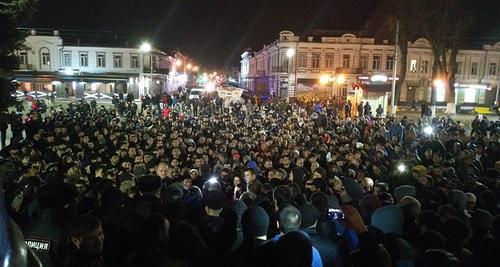 Молодежь Владикавказа протестовала против переименования Ингушетии в Аланию