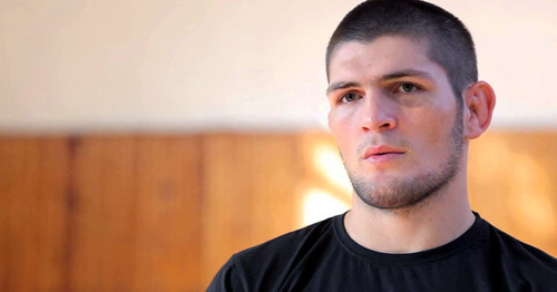 Хабиб Нурмагомедов. Кадр из видео пользователя Khabib Nurmagomedov https://www.youtube.com/watch?v=mXnHyHkN-8o