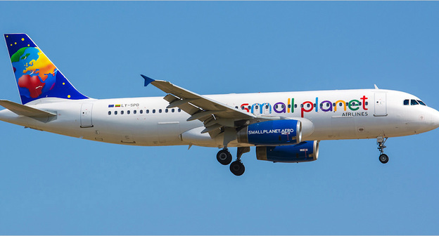 Борт авиакомпании Small Planet Airlines. Фото https://www.airlines-inform.ru/world_airlines/Small_Planet.html