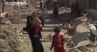 Мосул. Ирак. Скриншот с видео ru.euronews.com/2017/08/03/mosul-back-home