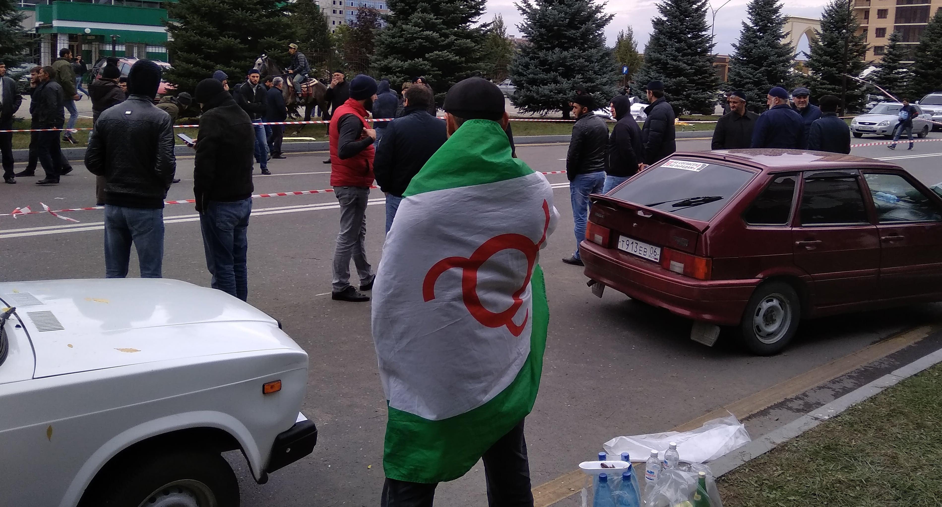 Участник акции протеста