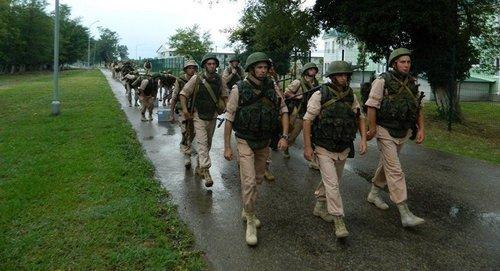 Около 1000 российских и абхазских военных провели совместные учения