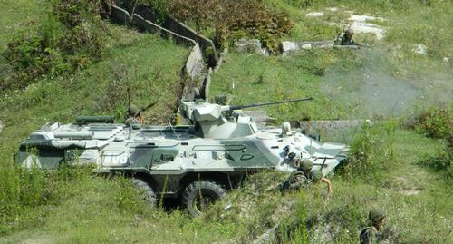 Учения мотострелков прошли на горном полигоне в Абхазии