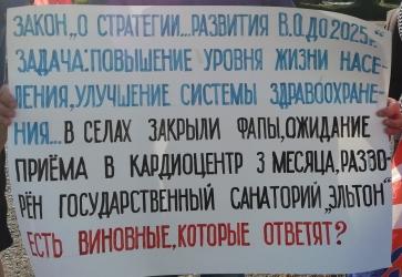 """Более 40 участников пикета в Волгограде выступили с критикой """"Единой России"""""""