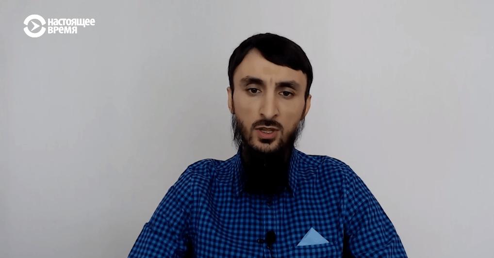 Скриншот видео интервью Тумсо Абдурахманова о внесудебных казнях в Чечне. 23 июля 2019 года. https://www.currenttime.tv/a/30071730.html