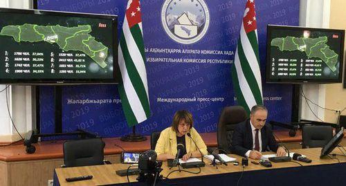 ЦИК Абхазии озвучил официальные итоги выборов президента