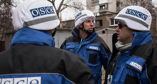 Наблюдатели ОБСЕ. Фото: CC BY 2.0 / OSCE Special Monitoring Mission / OSCE SMM monitoring