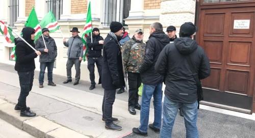 Выходы из Чечни на акции в Вене. Фото: Ибрагим Никархо.