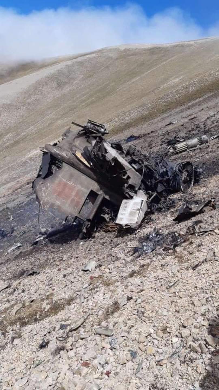 Самолет ВВС Армении, сбитый 29 сентября 2020 года в небе над Арменией. Фото Единого информационного центра Армении, https://www.facebook.com/ArmenianUnifiedInfoCenter/photos/pcb.797213791114550/797213697781226/
