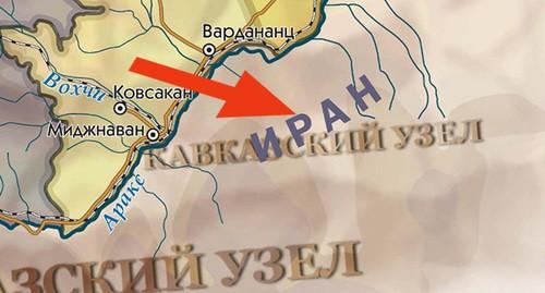 Участок границы Ирана и Нагорного Карабаха. https://www.kavkaz-uzel.eu/articles/354792/