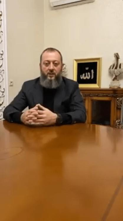 Скриншот видеообращения Магомеда Хазбиева, https://web.telegram.org/#/im?p=@fortangaorg