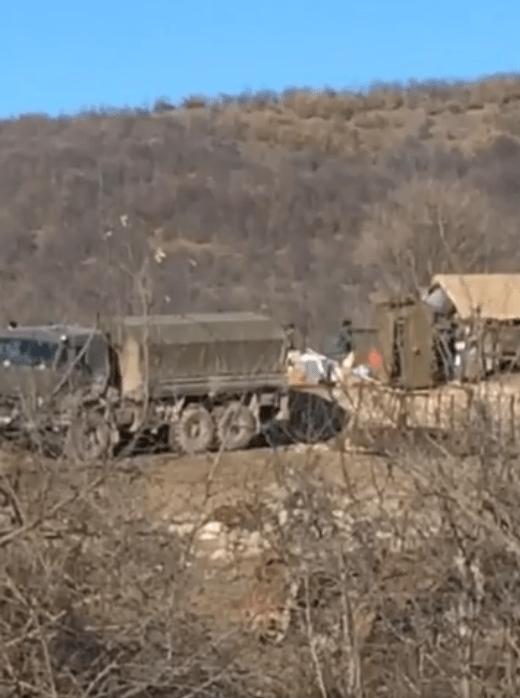 Военный пост в Шурнухе 2 января 2021 года. Стоп-кадр видео https://www.facebook.com/hakob.arshakyan.52/videos/1723724014473331