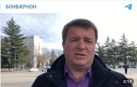 Скриншот публикации видео с Давидом Санакоевым, https://t.me/iron_bonvarnon/3343