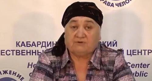 Мать Аслана Черкесова Соня  Черкесова. Фото: Стоп-кадр видео https://ok.ru/video/39744508260